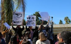 Pictured: Hundreds of California Lutheran University students participated in a walkout Feb. 12 to call attention to the lack of action they feel administration has taken in response to two allegedly racist incidents that surfaced in early February.