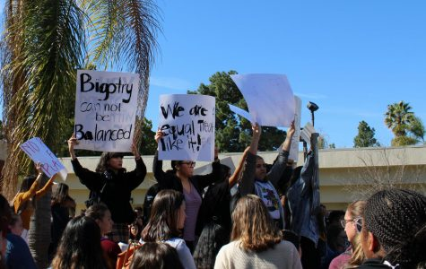 Hundreds of California Lutheran University students participated in a walkout Feb. 12 to call attention to the lack of action they feel administration has taken in response to two allegedly racist incidents that surfaced in early February.
