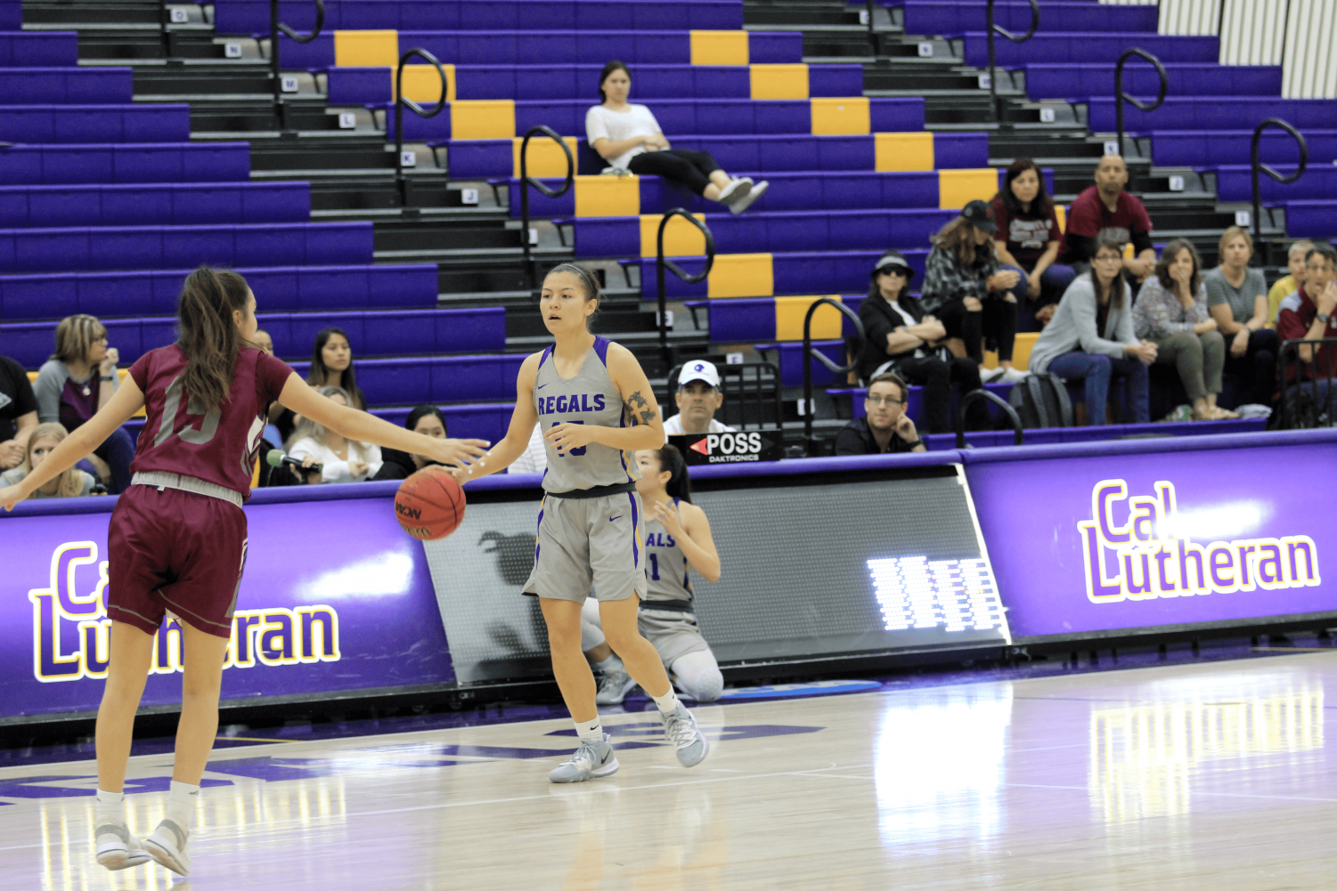Junior guard Taylor Oshiro scored seven points for the Regals as they faced the Redlands Bulldogs.