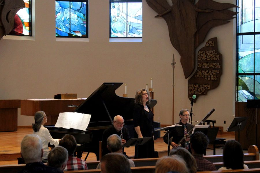 Bringing people together: Cal Lutheran Faculty and Thousand Oaks locals perform classical music in Samuelson Chapel during Peace in Concert, Saturday, Feb. 1.