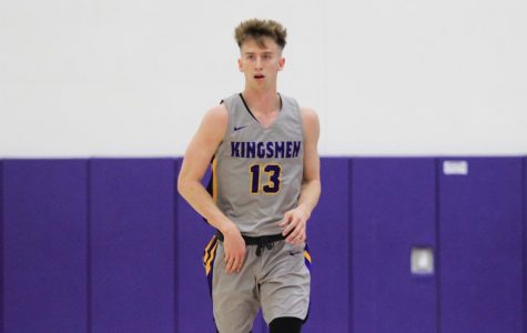 Lone senior Palmer Chaplin plays in his final game as one of the Kingsmen during senior night on Tuesday, Feb. 25 against Whittier.