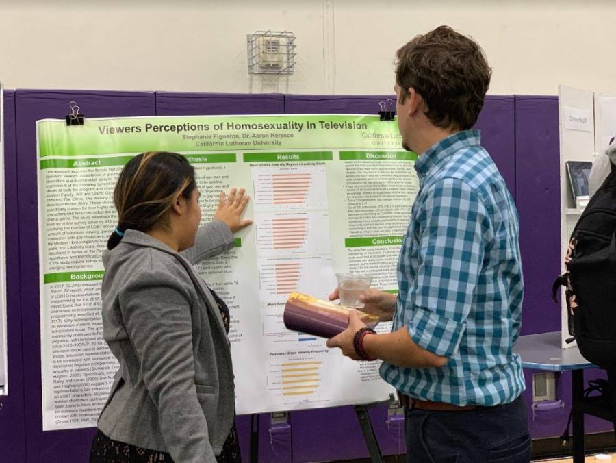 Stephanie Figueroa presents research during the 2019 Festival of Scholars.