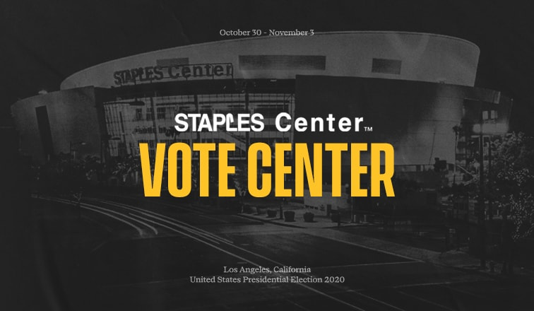 The+Los+Angeles+Lakers+are+one+of+many+NBA+teams+opening+their+arena+as+a+polling+station+for+the+2020+election.
