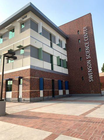 Up and empty: The Swenson Science Center is complete after two years of construction, but still awaits final permitting before labs can begin.