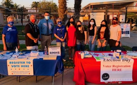 High School Voter Registration at Rio Mesa High School. Photo taken by Betsy Patterson on Oct 14, 2020