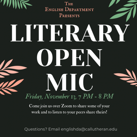 The English Department hopes to create a sense of community through events like Literary Open Mic Night.