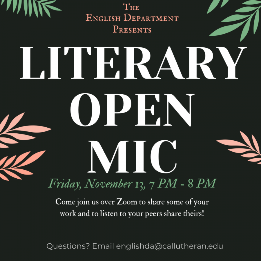 The+English+Department+hopes+to+create+a+sense+of+community+through+events+like+Literary+Open+Mic+Night.