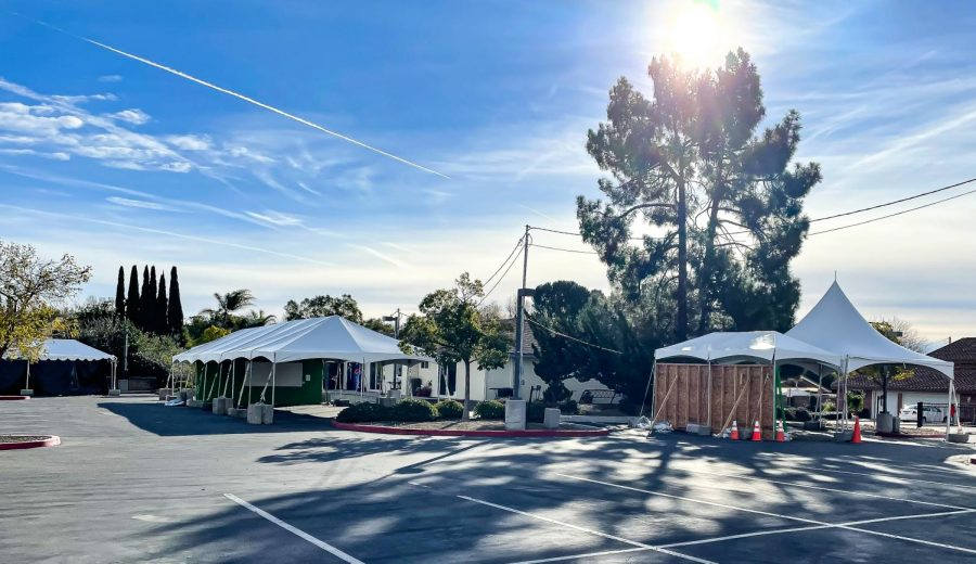 California Lutheran University's 10 outdoor classrooms--consisting of tents, cameras and interactive whiteboards--are slated to reopen as soon as Feb. 16.