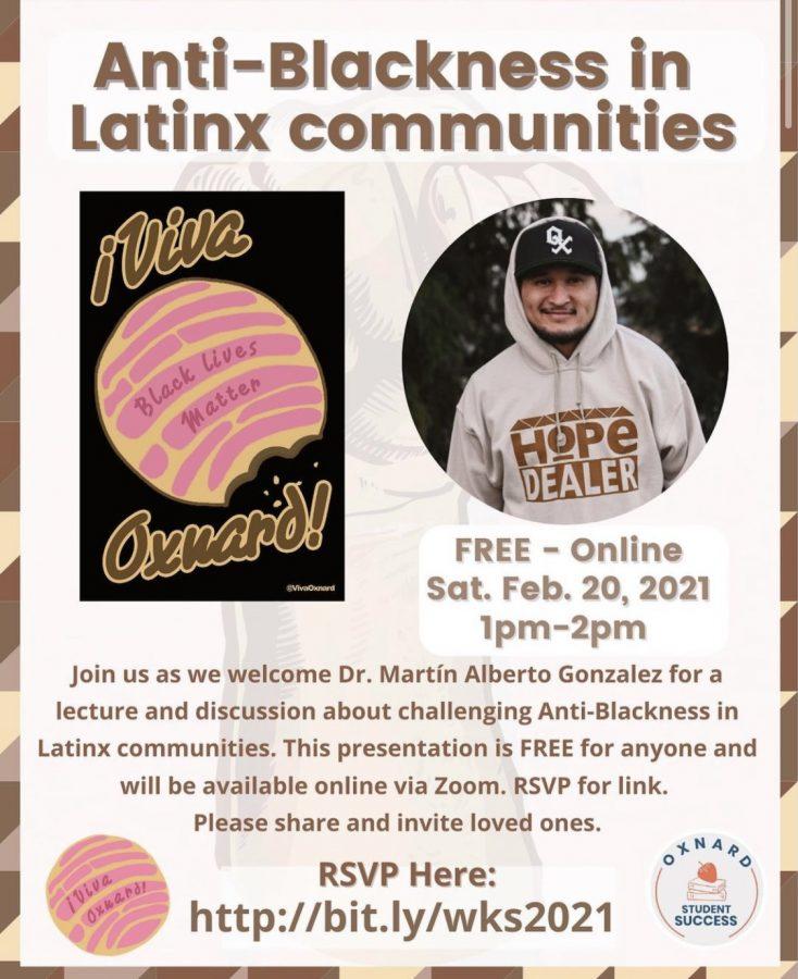 folleto publicitario para la discusión contra la negrura.