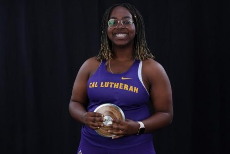 California Lutheran University sophomore, pre-med student Zaria Opara ranked #2 for the discus throw with 38.9 meters, #3 in the hammer throw with 41.86 meters and #10 in the shot put with 9.85 meters, in the nation.