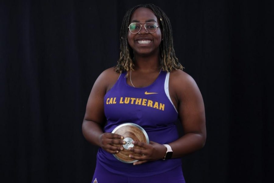 California+Lutheran+University+sophomore%2C+pre-med+student+Zaria+Opara+ranked+%232+for+the+discus+throw+with+38.9+meters%2C+%233+in+the+hammer+throw+with+41.86+meters+and+%2310+in+the+shot+put+with+9.85+meters%2C+in+the+nation.
