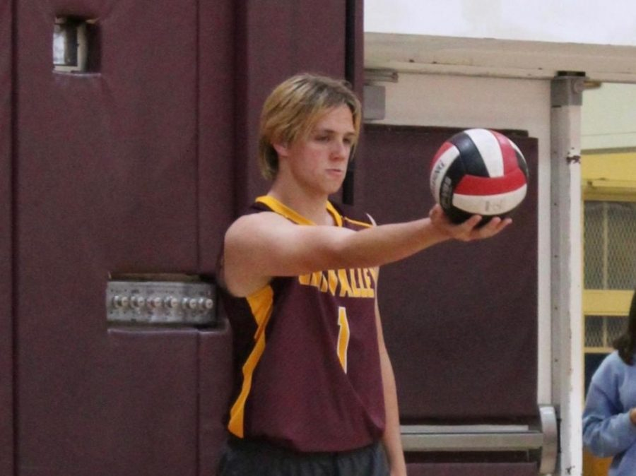 Ryker+Linn%2C+a+first-year+right-side+hitter+for+the+Kingsmen+Volleyball+team%2C+is+known+for+his+ability+to+find+the+hole+in+the+block+and+work+hard.