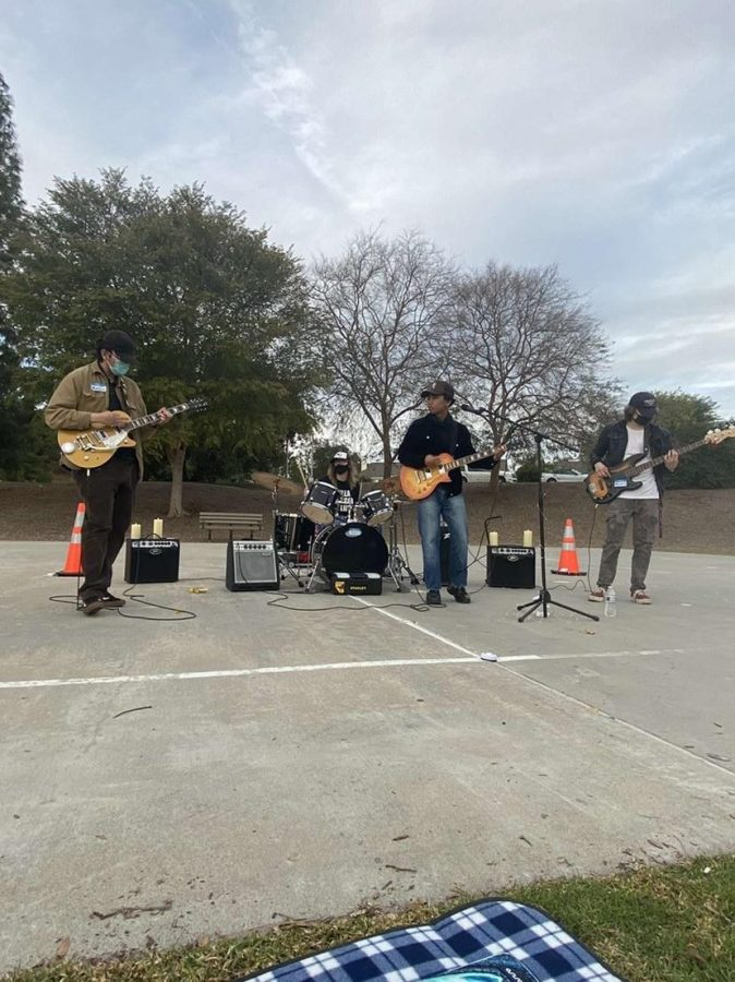 No Sweat, a new indie band, had their first live performance at Spring Meadow Park Feb. 15.