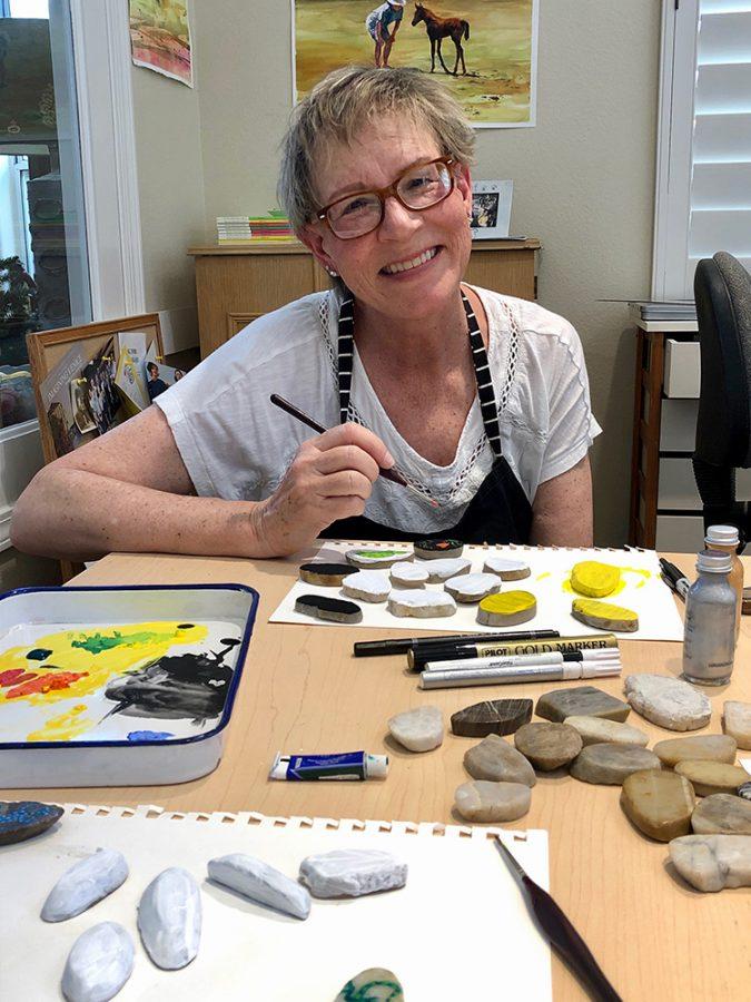 Professor Terry Spehar-Fahey's preferred medium for her artwork is watercolor.