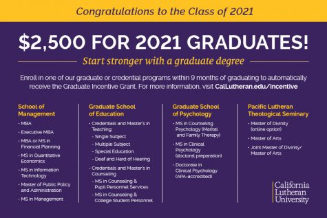 Graduating seniors offered $2,500 incentive to continue education at CLU