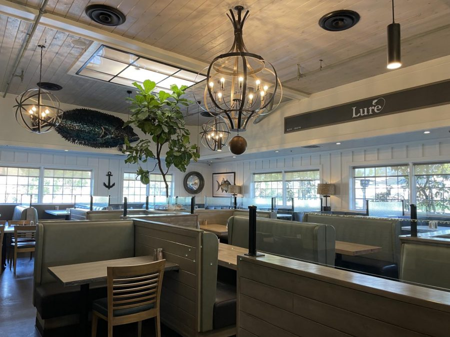 Lure Fish House in Camarillo is operating at 50 percent capacity with both indoor and outdoor seating.
