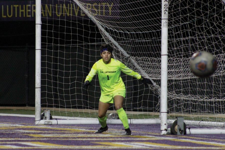 Senior Gabby Flores was named Womens Soccer Defensive Player of the Week by the Southern California Intercollegiate Athletic Conference.