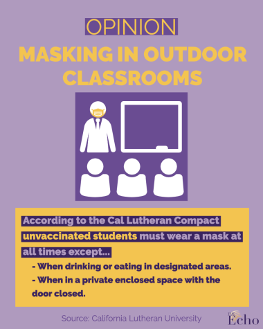 Masking in outdoor classrooms is necessary